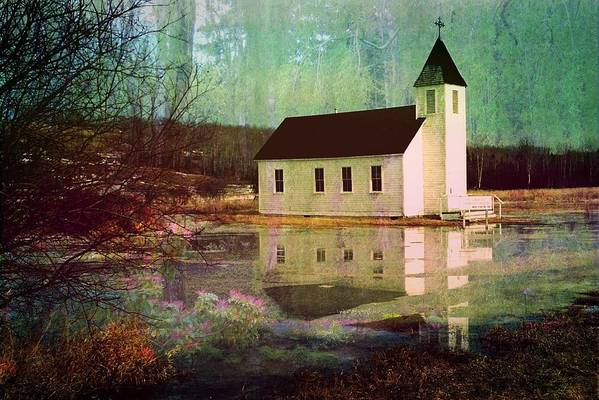 Church Art Print featuring the photograph Secluded Sanctum by Shirley Sirois