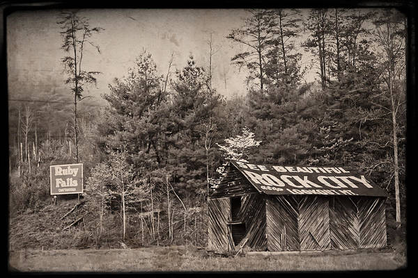 Barn Print featuring the photograph See Rock City by Debra and Dave Vanderlaan