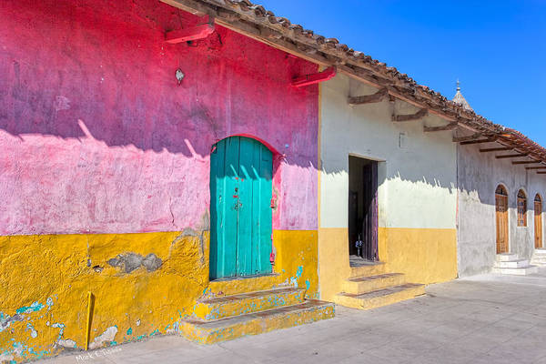 Granada Art Print featuring the photograph Seeing Pink In Latin America - Granada by Mark E Tisdale