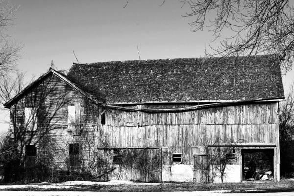 Barn Art Print featuring the photograph Seen Better Days by Larry Jones