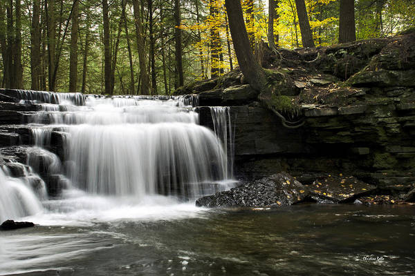Waterfall Print featuring the photograph Serenity Waterfalls Landscape by Christina Rollo