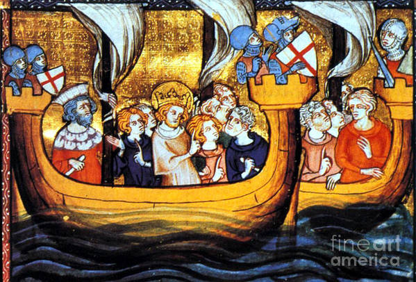 Navigation Art Print featuring the photograph Seventh Crusade 13th Century by Photo Researchers