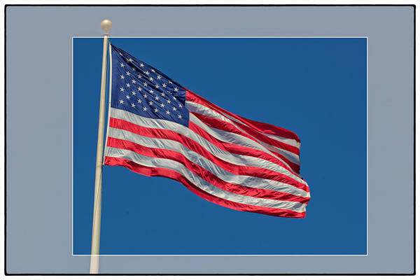 Flags Art Print featuring the photograph She's A Grand Old Flag by Floyd Hopper
