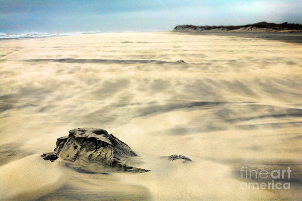 Outer Banks Art Print featuring the painting Shifting Sands On Ocracoke Outer Banks by Dan Carmichael