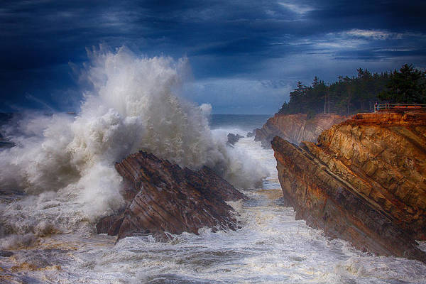 Storm Print featuring the photograph Shore Acre Storm by Darren White
