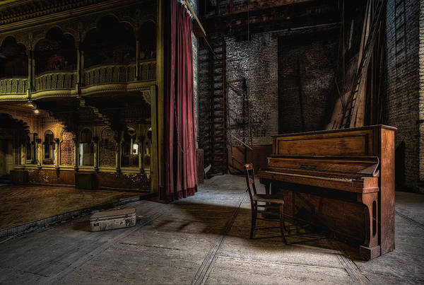 Decay Art Print featuring the photograph Show, Interrupted by Adrian Popan