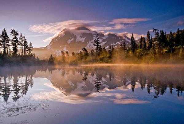 Mountain Art Print featuring the photograph Shuksan Sunrise by Darren White