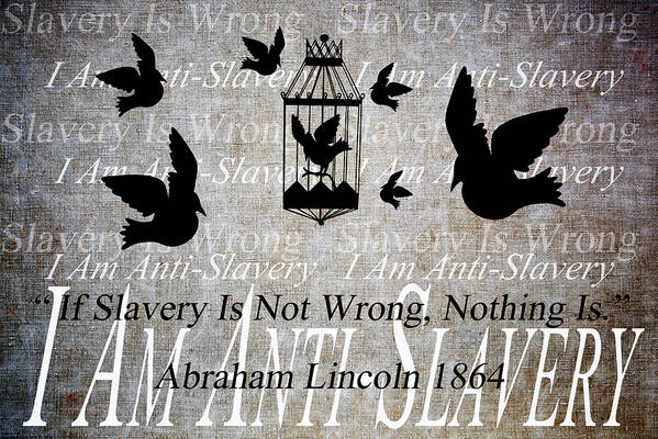 Texture Art Print featuring the digital art Slavery by Angelina Vick