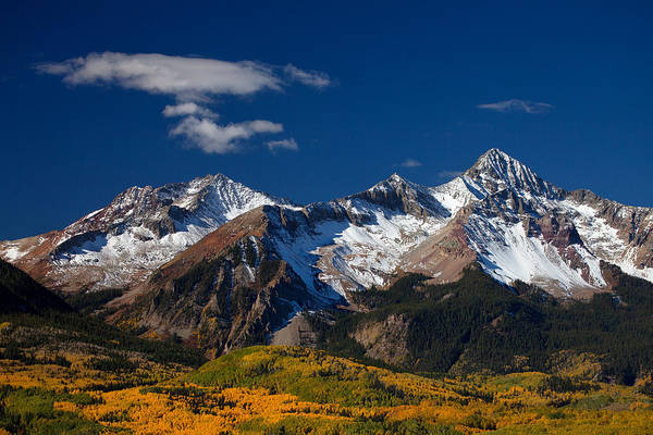 Colorado Landscapes Art Print featuring the photograph Sneffels Clearing by Darren White