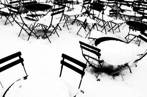 Black And White Art Print featuring the photograph Snow Picnic by Diana Angstadt