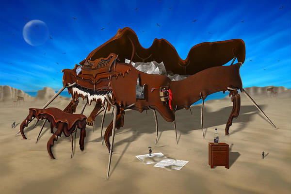 Surrealism Art Print featuring the photograph Softe Grand Piano Se by Mike McGlothlen