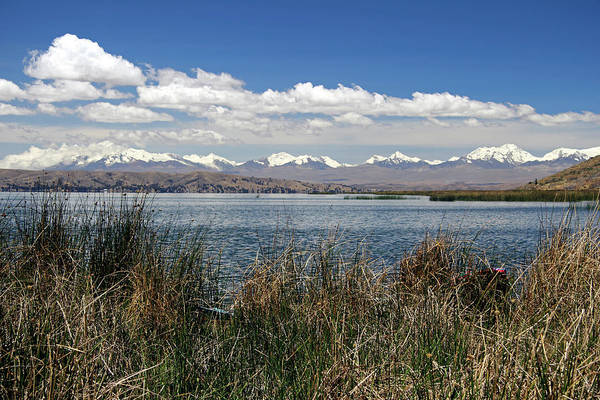 Aymara Art Print featuring the photograph South America, Bolivia, Lake Titicaca by Kymri Wilt