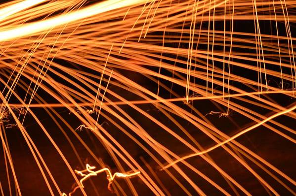 Light Art Art Print featuring the photograph Sparks by Valarie Davis