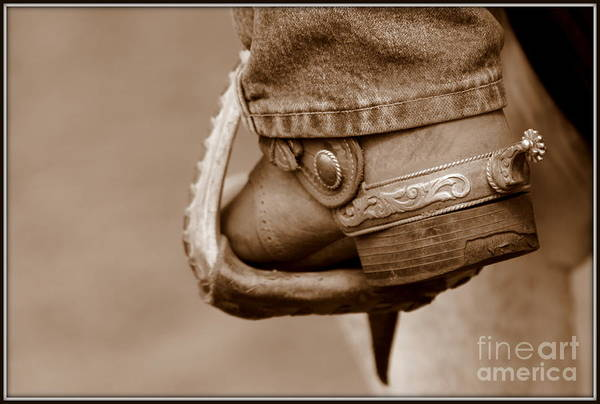 Cowboy Print featuring the photograph Spur by Bill Keiran