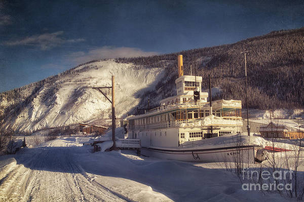 Steamboat Art Print featuring the photograph S.s. Keno Sternwheel Paddle Steamer by Priska Wettstein