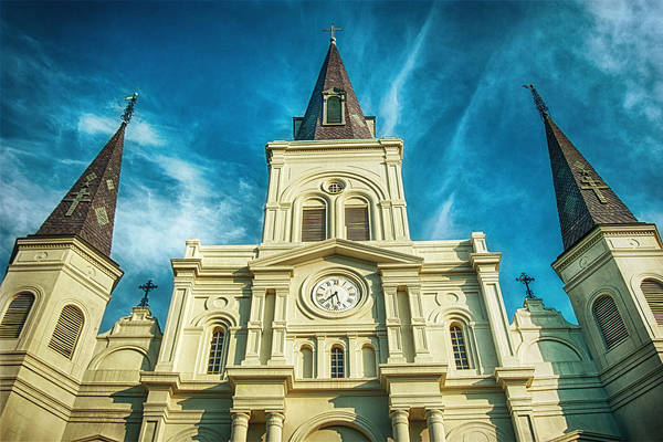 St. Louis Cathedral Print featuring the photograph St. Louis Cathedral by Brenda Bryant