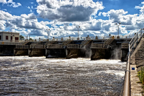 St. Lucie Lock And Dam Art Print featuring the photograph St Lucie Lock And Dam 2 by Dan Dennison