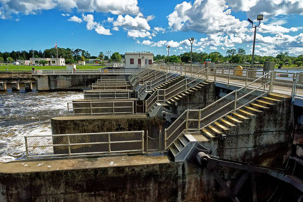 St. Lucie Lock And Dam Print featuring the photograph St Lucie Lock And Dam by Dan Dennison