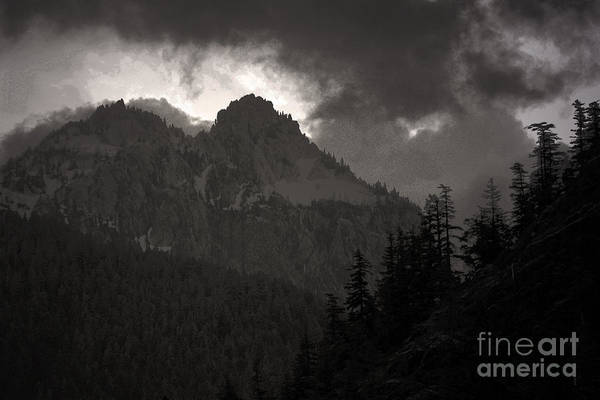 Mountains Washington Art Print featuring the photograph Staircase by C E Dyer