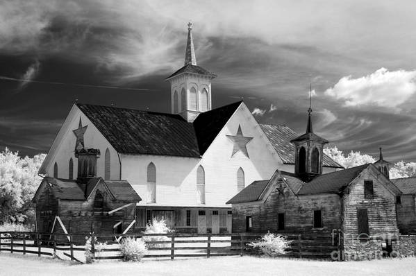 Infrared Art Print featuring the photograph Star Barn Complex In Infrared by Paul W Faust - Impressions of Light