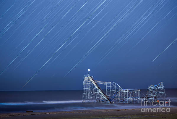 Starjet Art Print featuring the photograph Starjet Under The Stars by Michael Ver Sprill