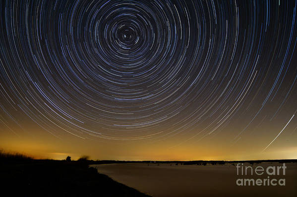 Deal Island Art Print featuring the photograph Startrails 3 by Benjamin Reed