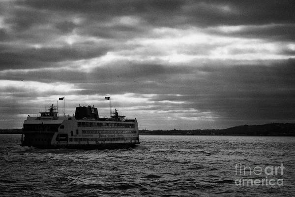 Usa Art Print featuring the photograph staten island ferry Andrew J Barberi heading towards staten island by Joe Fox