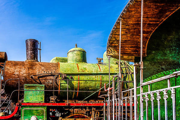 Train Art Print featuring the photograph Steam And Iron - Last Station by Alexander Senin
