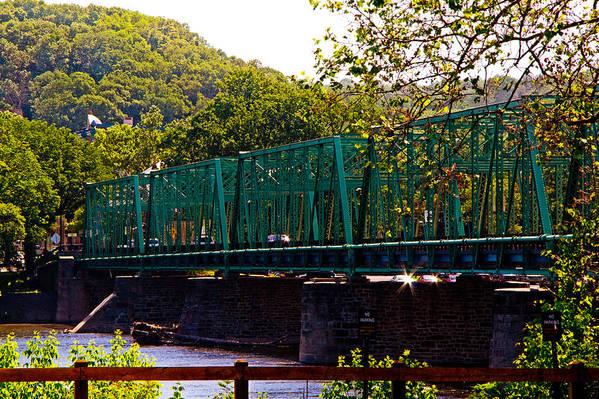 Bridge Art Print featuring the photograph Steel Bridge by Tom Gari Gallery-Three-Photography