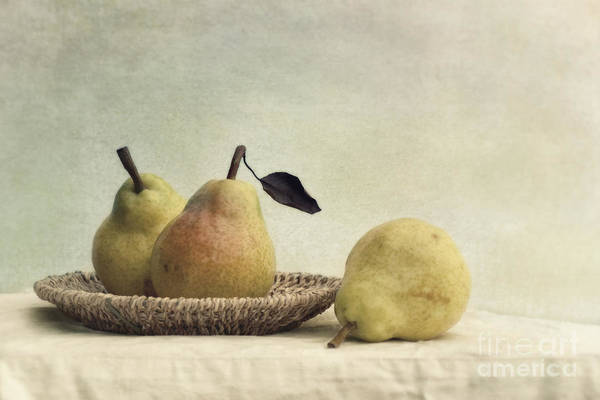 Pear Art Print featuring the photograph Still Life With Pears by Priska Wettstein