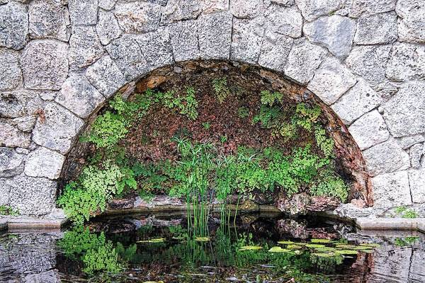 Garden Art Print featuring the photograph Stone Arch by Rudy Umans