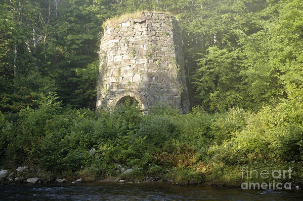 New England Art Print featuring the photograph Stone Iron Furnace - Franconia New Hampshire by Erin Paul Donovan