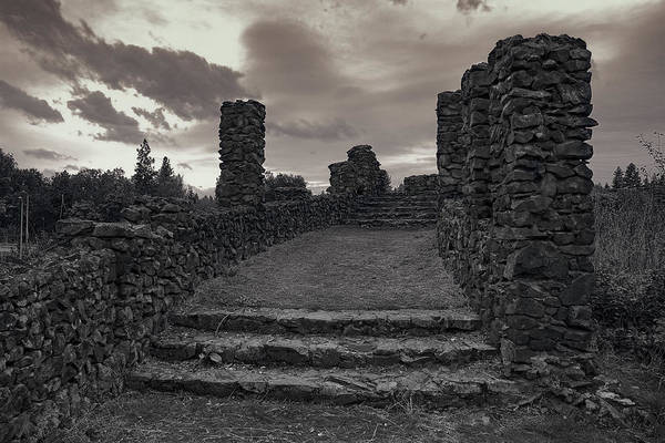 Spokane Art Print featuring the photograph Stone Ruins At Old Liberty Park - Spokane Washington by Daniel Hagerman