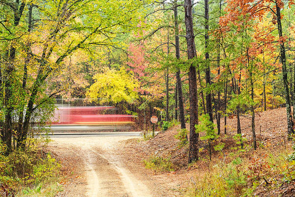 Talimena Scenic Byway Art Print featuring the photograph Stop - Beaver's Bend State Park - Highway 259 Broken Bow Oklahoma by Silvio Ligutti