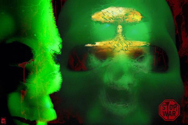 War Art Print featuring the digital art Stop War by Jakub DK