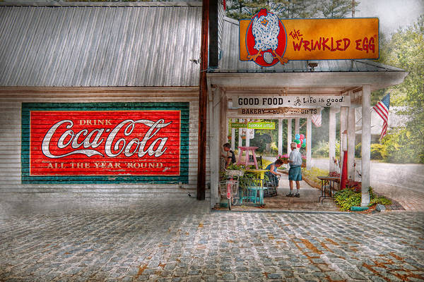 Savad Art Print featuring the photograph Store Front - Life Is Good by Mike Savad