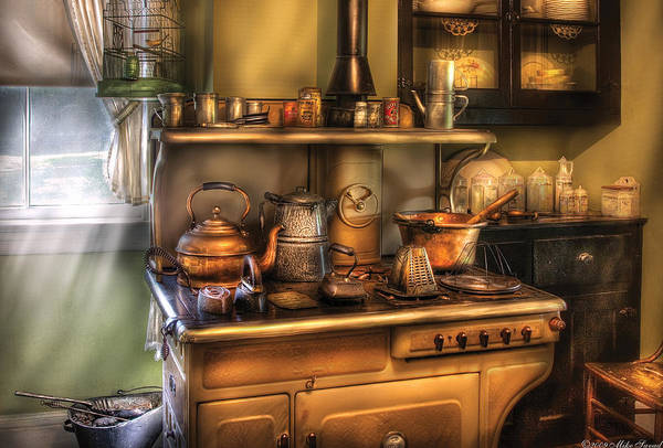 Savad Art Print featuring the photograph Stove - What's For Dinner by Mike Savad