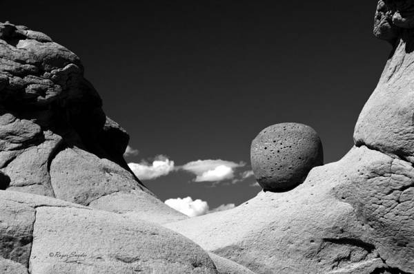 Unique Photos Art Print featuring the photograph Strange Rocks 30 Bw by Roger Snyder
