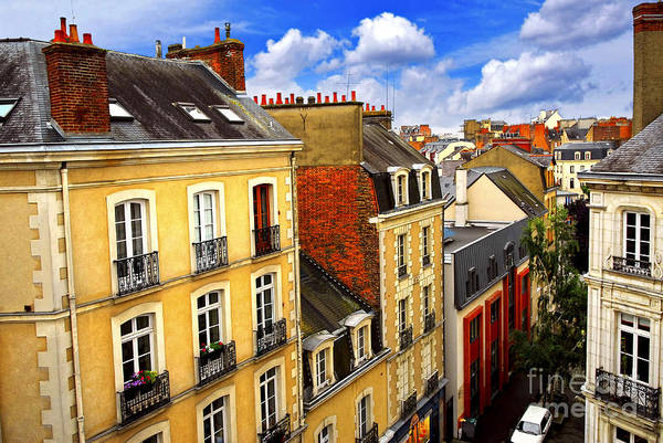View Art Print featuring the photograph Street In Rennes by Elena Elisseeva