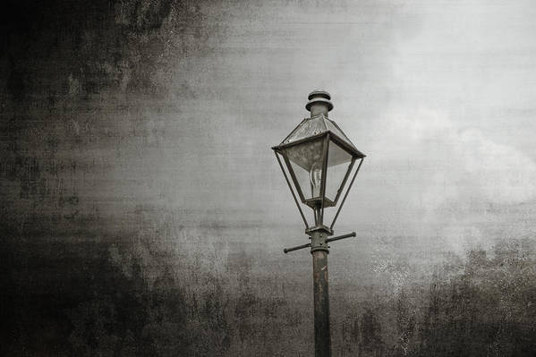 New Orleans Art Print featuring the photograph Street Lamp On The River by Brenda Bryant