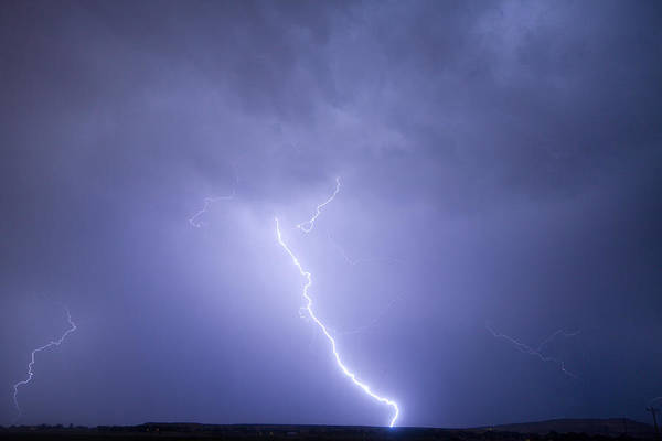 Lightning Art Print featuring the photograph Striking Distance by James BO Insogna