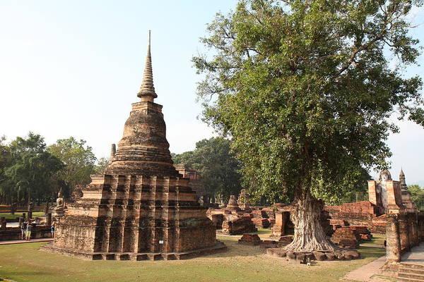 Sukhothai Art Print featuring the photograph Sukhothai Historical Park - Sukhothai Thailand - 011333 by DC Photographer