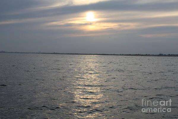 Summer Sunset Over Freeport Art Print featuring the photograph Summer Sunset Over Freeport by John Telfer