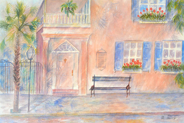 Charleston; Low Country; Palmetto Tree Art Print featuring the painting Sunday Morning In Charleston by Ben Kiger