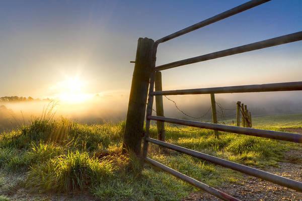 Appalachia Art Print featuring the photograph Sunrise Gate by Debra and Dave Vanderlaan