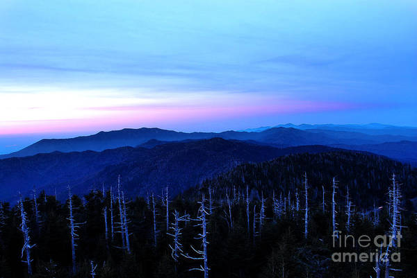 Clingman's Dome Art Print featuring the photograph Sunset At Clingman's Dome by Nancy Mueller