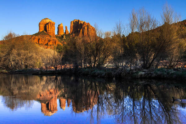 Arizona Art Print featuring the photograph Sunset At Red Rocks Crossing In Sedona Az by Teri Virbickis