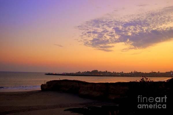 Santa Cruz Art Print featuring the photograph Sunset In Santa Cruz California by Garnett Jaeger