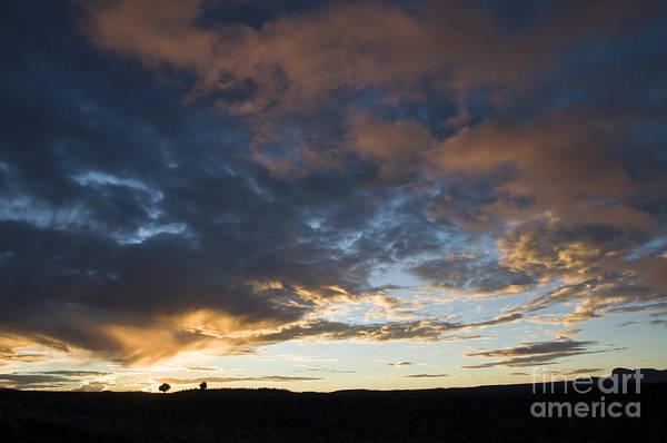 Utah Sunset Art Print featuring the photograph Sunset In Utah by Delphimages Photo Creations