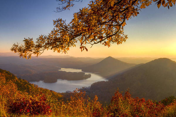 Appalachia Art Print featuring the photograph Sunset Light by Debra and Dave Vanderlaan
